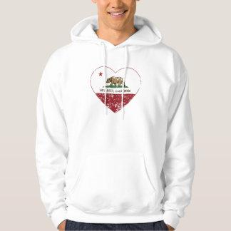 coração de Hollister da bandeira de Califórnia Moleton Com Capuz