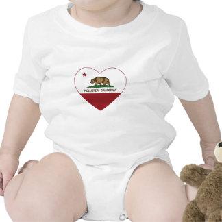 coração de Hollister da bandeira de Califórnia Macacãozinho