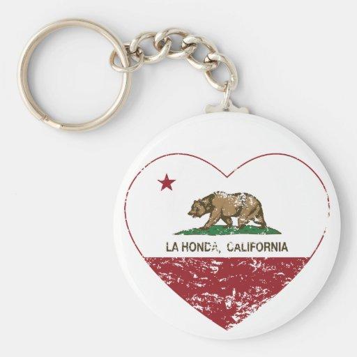 coração de Honda do la da bandeira de Califórnia a Chaveiros