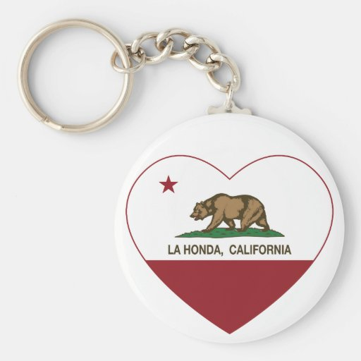 coração de Honda do la da bandeira de Califórnia Chaveiros