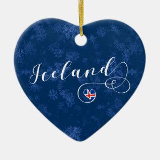 Coração de Islândia, ornamento da árvore de Natal
