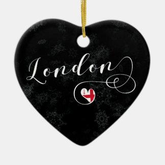 Coração de Londres, ornamento da árvore de Natal,