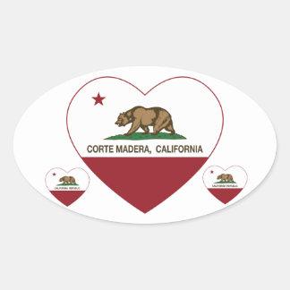 coração de madera do corte da bandeira de adesivo oval
