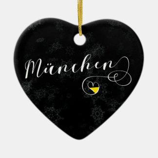 Coração de Munich, ornamento da árvore de Natal,