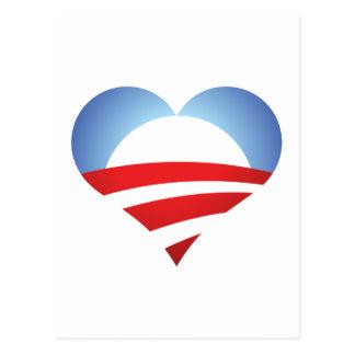 Coração de Obama Cartão Postal