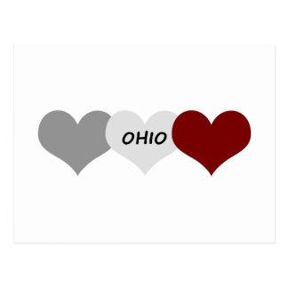 Coração de Ohio Cartão Postal