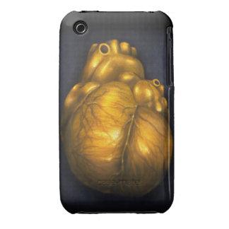 Coração de ouro - caso protetor do iPhone 3 Capinhas iPhone