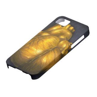 Coração de ouro - caso protetor do iPhone 5 Capa Barely There Para iPhone 5