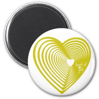 Coração de ouro imã