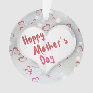 Coração de papel dobrado dia das mães - ornamento