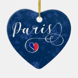 Coração de Paris, ornamento da árvore de Natal,