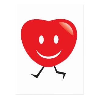 coração de passeio cartão postal