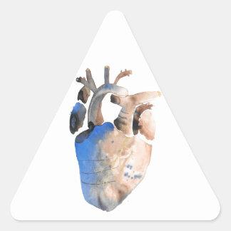 Coração de pedra adesivo triangular