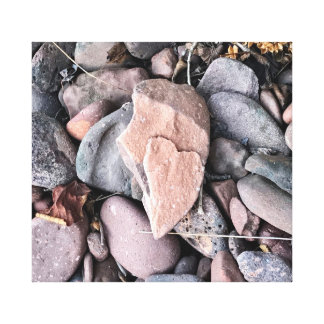Coração de pedra em canvas