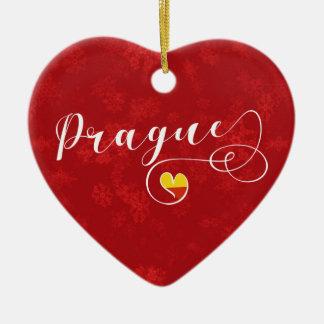 Coração de Praga, ornamento da árvore de Natal,