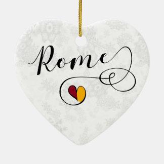 Coração de Roma, ornamento da árvore de Natal,