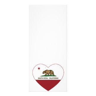 coração de Santa Rosa da bandeira de Califórnia Convites