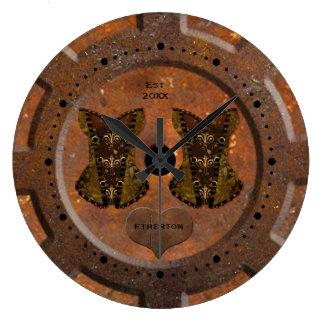 Coração de Steampunk e relógio de bolso dos
