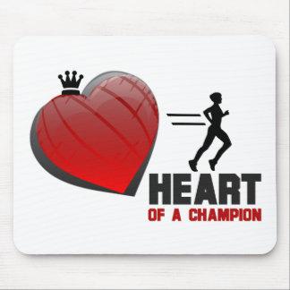 Coração de um corredor do campeão mouse pads