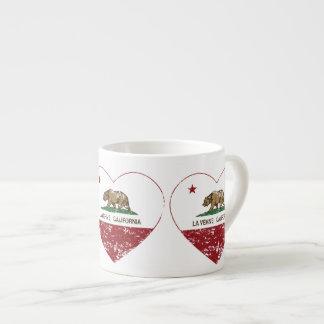 coração de verne do la da bandeira de Califórnia a Caneca De Café