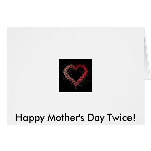 coração, dia das mães feliz duas vezes! cartoes