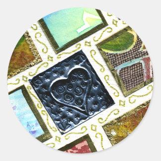 Coração diferente do metal das técnicas do teste adesivo