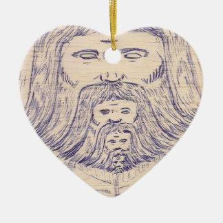 Coração Divino Ornamento De Cerâmica Coração