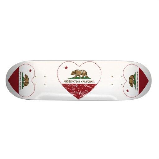 coração do acampamento dos anjos da bandeira de Ca Skates