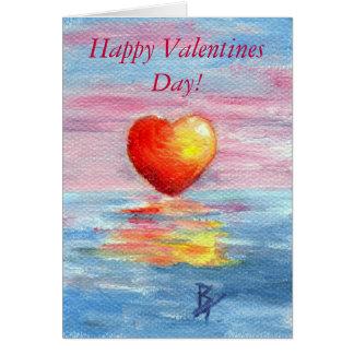 Coração do ajuste, dia dos namorados feliz! cartão
