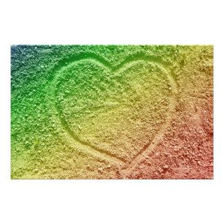 Coração do amor impressão de foto