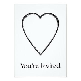 Coração do amor com borda do Scribble Convites Personalizado