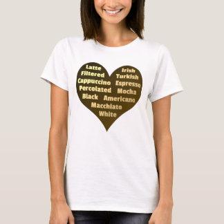 Coração do amor para o t-shirt das mulheres do camiseta