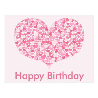 Coração do cartão do feliz aniversario dos