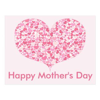 Coração do cartão feliz do dia das mães dos