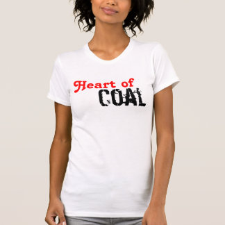 Coração do carvão t-shirt