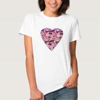 Coração do cetim t-shirt
