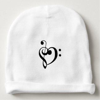 Coração do Clef baixo do triplo Gorro Para Bebê
