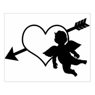 Coração do Cupido e namorados da silhueta | da Carimbo De Borracha