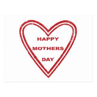 Coração do dia das mães cartão postal
