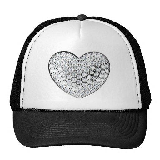 Coração do diamante boné