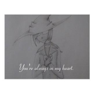 Coração do espantalho cartão postal