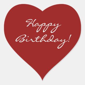Coração do feliz aniversario adesivo coração