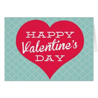 Coração do feliz dia dos namorados cartão comemorativo