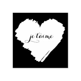 Coração do francês de KiniArt eu te amo Carimbo De Borracha