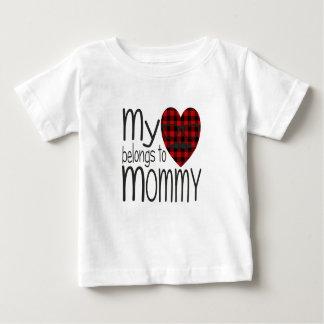 Coração do hipster da mamã camiseta para bebê