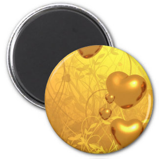 Coração do ímã do ouro ímã redondo 5.08cm