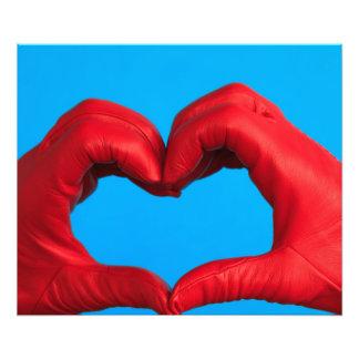 coração do impressão de couro vermelho da foto impressão de foto
