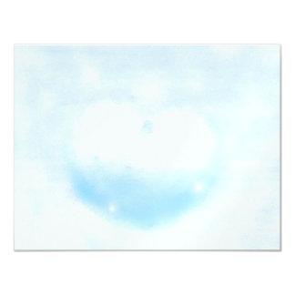 Coração do inverno convite 10.79 x 13.97cm
