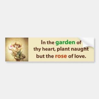 Coração do jardim adesivo para carro
