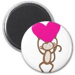Coração do macaco imãs